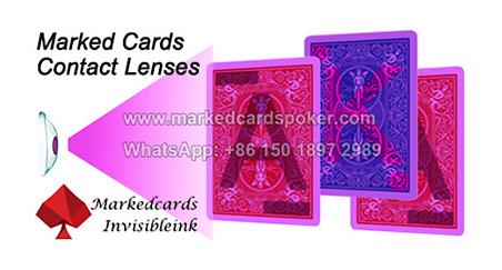 Marked cards for poker tricks
